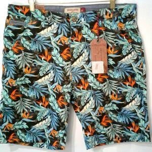 Hudson & Barrow Printed Shorts sz 34 NWT